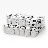 Pack of 10 - Single Use Disposable Camera in White for Weddings and Parties