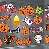 Halloween Friendly Cutouts - 30cm Halloween Decorations - 30 pack