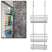 Taylor & Brown Chrome 3 Tier Over Door Hanging Bathroom Shower Caddy