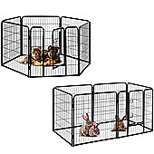 Milo & Misty Heavy Duty Playpen. 6 Panel Folding & Portable Outdoor Cage 80x80cm