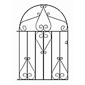 Wrought Iron Style Metal Scroll Low Bow Top Garden Gate 91cm GAP x 122cm HIGH