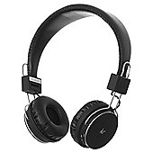 KitSound Manhattan Wireless Bluetooth Over-Ear Headphones with Mic - Black