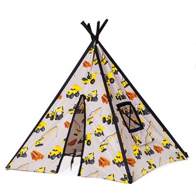 Ready Steady Bed Children's Diggers Print Play Tent