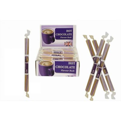 20 Small Flavoured Rock Sticks - Hot Chocolate Flavour