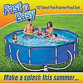 Fast N Easy 10ft Steel Frame Pool with Pump