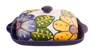 Divine Deli Spanish Collection Butter Dish, Various Colours