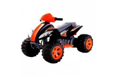 6V Quad Bike Style Ride On Car Black and Orange