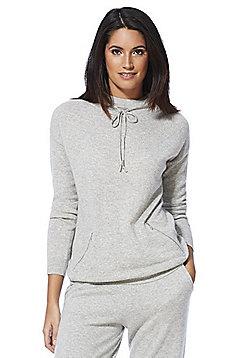 F&F Drawstring Neck Cashmere Jumper - Grey
