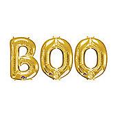 """BOO' Gold Foil Balloon Kit - 16"""""""