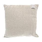 Country Club Herringbone Como Jumbo Cushion, 55 x 55cm, Natural Beige
