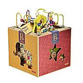 B. Toys - B Zany Zoo Wooden Activity Cube