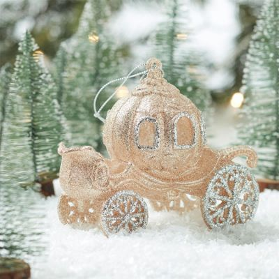 Glitter Princess Carriage Decoration