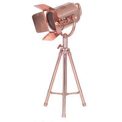 Copper Tripod Table Lamp Film Light Industrial Style Spot Light