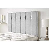 Aspire Furniture Portmoor Headboard in Katsuro Linen Fabric - Silver - Small Double 4ft