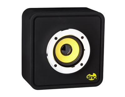 Tinc Big Boom Portable Wireless Magnetic Induction Stand n' Speaker for Smartphones - Black/Yellow