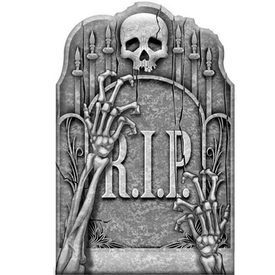 Halloween Props Cemetery Ghoslty Arms Tombstone - 58cm