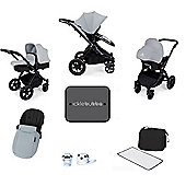 Ickle bubba Stomp V2 AIO/Buggy Lights/Mosquito Net Travel System - Silver