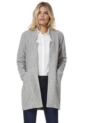 Vero Moda Brushed Notched Lapel Coat Grey S