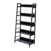 Homcom Bookshelf Wooden Rack Storage Wall Shelf Organizer Display Black (5 Tiers)