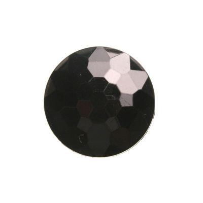 Hemline Black Faceted Shank Buttons 21mm 5pk