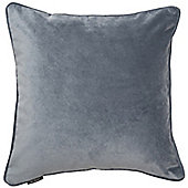 McAlister Petrol Blue Matt Velvet Cushion Cover - 43x43cm