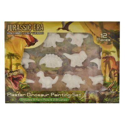 12pc Paint Your Own Dinosaur Plaster Painting Set Craft Creative Kit