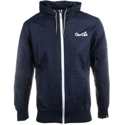 Gio Goi Combustion Mens Full Zip Hooded Windrunner Navy Blue - XL
