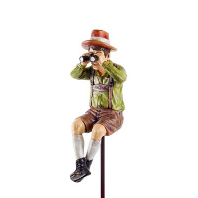 Nosey Neighbour Man Figurine Garden Ornament on a Stake Unusual Outdoor Feature