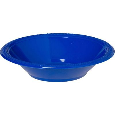 Blue Plastic Bowls 355ml, Pack of 20