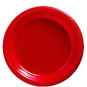 Red Plastic Party Plates - 23cm - 20 Pack