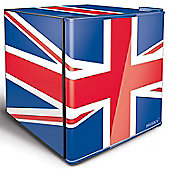Husky HUS-EL193 Union Jack GB Flag Mini Fridge