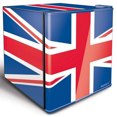 Husky HUS-EL193 Union Jack GB Flag Mini Fridge