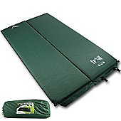 Trail 5cm Double Self-Inflating Camping Mat - Green