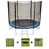 Up and About 10ft Jump Easy Power Trampoline Package with Free Ladder, Weather Cover and Building Tool