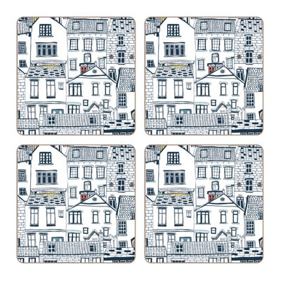 iStyle Coastal Houses Coasters