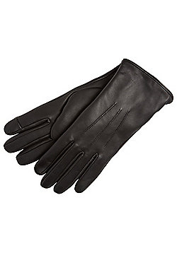 """F&F Signature Leather Gloves with Thinsulate""""™ - Black"""