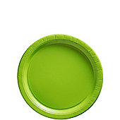 Lime Green Dessert Plates - 17cm Paper Party Plates - 8 Pack