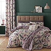 Catherine Lansfield Painted Floral Plum Duvet Cover Set - Plum