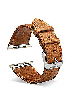 Aquarius Replacement Genuine Leather Strap Band for Apple Smart iWatch 38mm - Tan Brown - R164433
