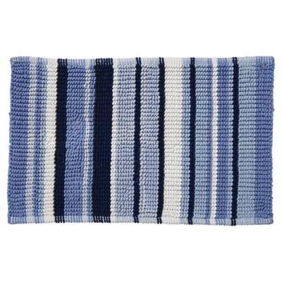Buy Blue Stripe Bath Mat From Our Bath Mats Range Tesco