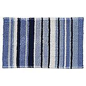 Blue Stripe Bath Mat