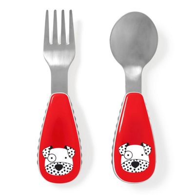 Children's Skip Hop Cutlery Set - Dalmatian, Children's Cutlery, Toddler Cutlery, Baby Cutlery