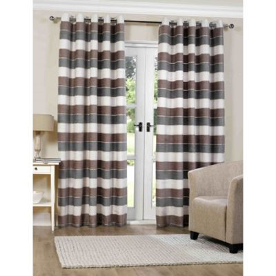 Torres Natural Eyelet Curtains - 90x54 Inches (229x137cm)