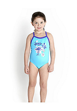 Speedo Infant Girl's Essential Thinstrap Swimsuit - Turquoise