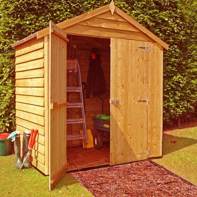 Finewood Overlap Apex 4x6ft Double Door Shed