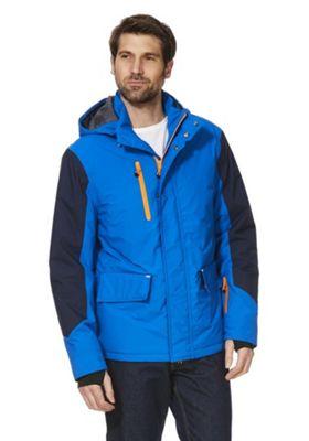 F&F Active Panelled Waterproof Ski Jacket S Blue & Black