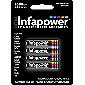 Infapower 4x AAA 1000mAh Rechargeable Batteries - PC