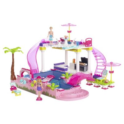 Mega Bloks Barbie Build 'n' Style Pool Party