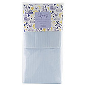 Tesco Moses Basket 2 Fitted Sheets, Blue
