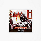 Star Wars Personalised Christmas Coaster Single Darth